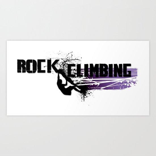 Rock Climbing - Female Art Print
