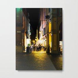Bologna, Italy at Night Metal Print