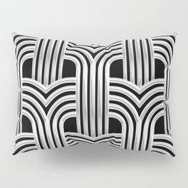 3-D Art Deco Silver Architectural Chic Design Pillow Sham