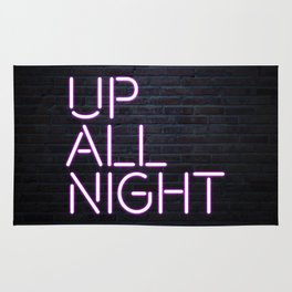 up all night neon Rug