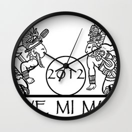 Mayan 2012 Mueve Mi Mundo (Tshirt) Wall Clock