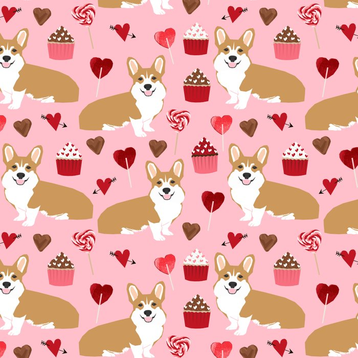 Corgi cupcakes valentines day cute love hearts dog breed corgi crew welsh corgis gifts Leggings