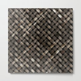 Woven texture Metal Print
