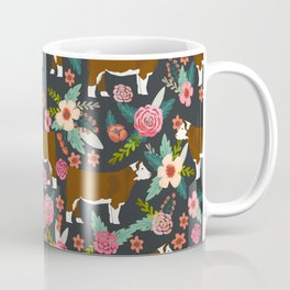Hereford Cattle breed floral farm homestead gifts cow art florals Coffee Mug
