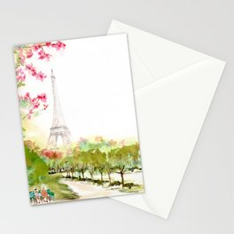 Petit Repos~ A Short Rest~ at Champs De Mars Stationery Cards