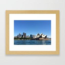 Opera of a Skyline Framed Art Print