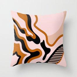 Beautiful Journey - Caramel and Cream Throw Pillow