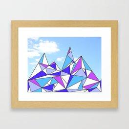 Happy Hills Framed Art Print