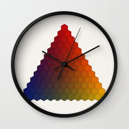 Lichtenberg-Mayer Colour Triangle variation, Remake using Mayers original idea of 12+1 chambers Wall Clock