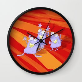 The joy of the idiotians Wall Clock