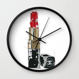 Lipstick Rouge Wall Clock