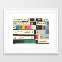 american psycho Framed Art Prints featuring American Psycho by r054