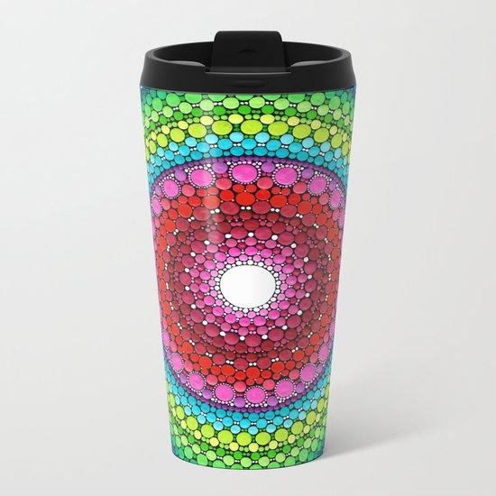 Mandala of Inner Peace Metal Travel Mug