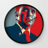 hero Wall Clocks featuring Hero by Skylofts Merch