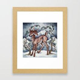 Winter Fawn Framed Art Print