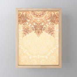 Elegance Ornate Mehndi Mandala v.3 Framed Mini Art Print