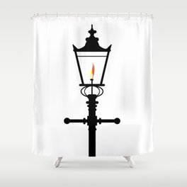Victorian Isolated Gaslight Shower Curtain