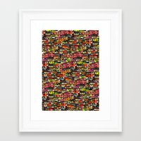 brazil Framed Art Prints featuring Brazil by India Panzid