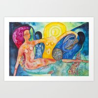 The morning, an allegory Art Print