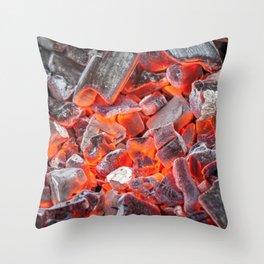 Burning Coals Throw Pillow
