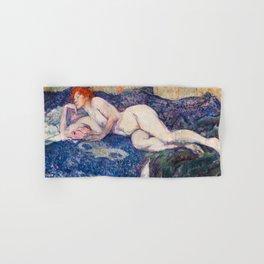 Henri de Toulouse Lautrec - Nude Lying on a Couch Hand & Bath Towel
