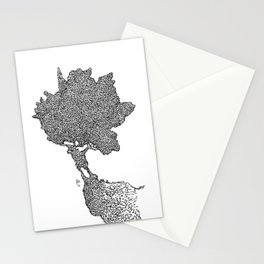 Ragging maple Stationery Cards