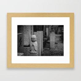 Little stone buddha Framed Art Print