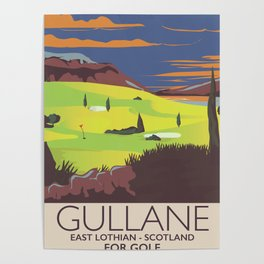Gullane,East Lothian, Scotland Golf poster. Poster