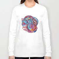 guitar Long Sleeve T-shirts featuring Guitar by Hannah Maria