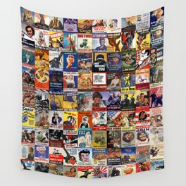 WWII Posters Wall Tapestry