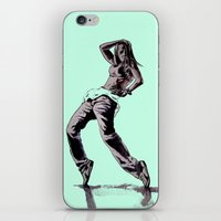 hiphop iPhone & iPod Skins featuring B GIRL by ARTito