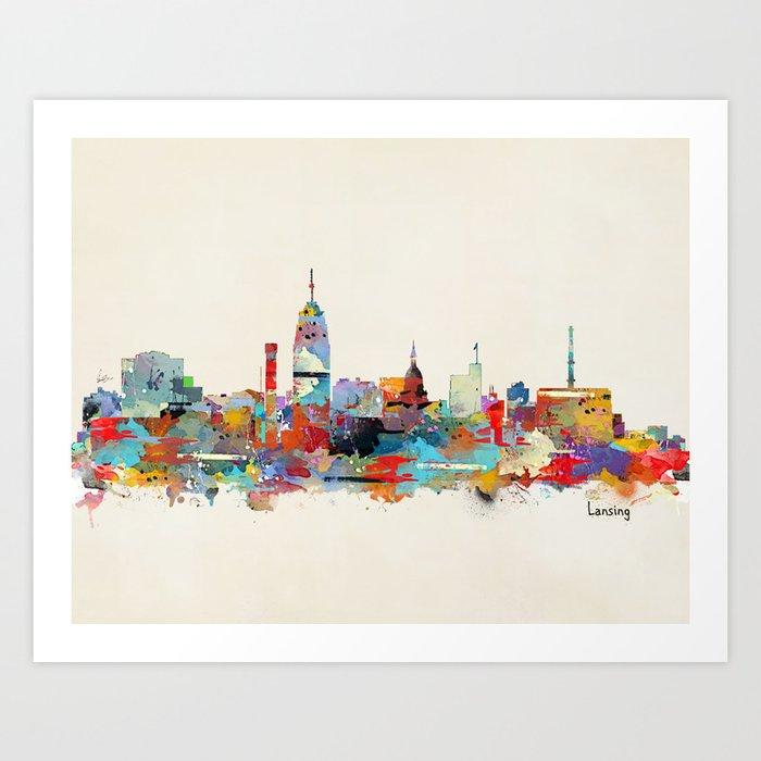 Lansing Michigan skyline Art Print