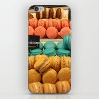 macarons iPhone & iPod Skins featuring Macarons by Cristina Cavallari