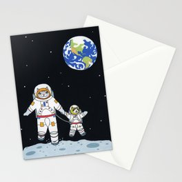 Space Cats Stationery Cards