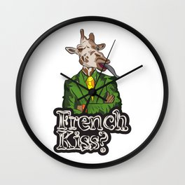 French Kiss? Wall Clock