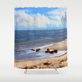 On A Clear Day - Painterly Shower Curtain