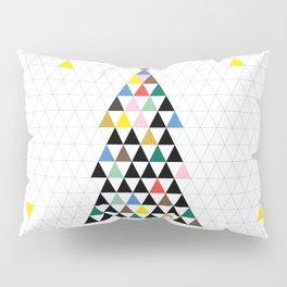 Geometric Christmas Tree Pillow Sham