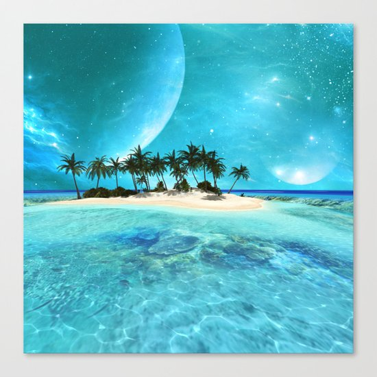 Wonderful tropical island Canvas Print