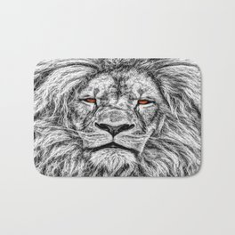 Black Lion Bath Mat