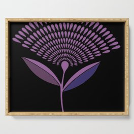 Mid Century Modern Dandelion Seed Head In Lilac Serving Tray