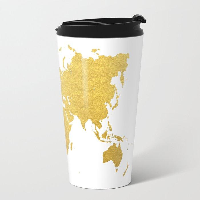 Gold world map travel mug by bysamantha society6 gold world map travel mug gumiabroncs Image collections