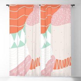 lena, patchwork quilt Blackout Curtain