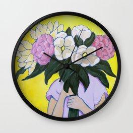 Posy I / Blooms Wall Clock