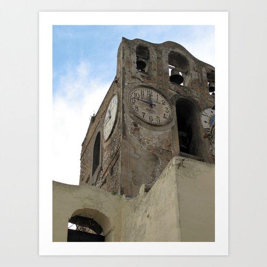 Bell Tower, Anacapri, Italy Art Print
