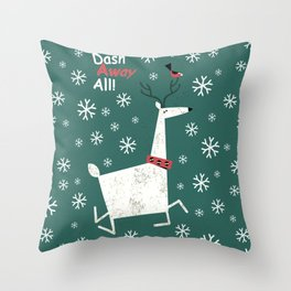 Dash Away All Throw Pillow