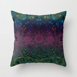 Decorative Kaleidoscope Mandala Gradient Throw Pillow