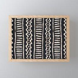 African Vintage Mali Mud Cloth Print Framed Mini Art Print