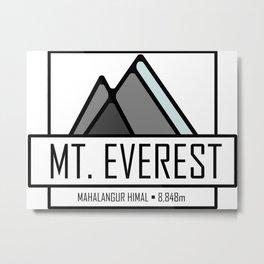 Mount Everest Design Metal Print