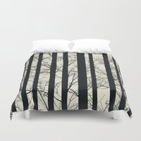 naked Duvet Covers featuring Naked forest by Rceeh
