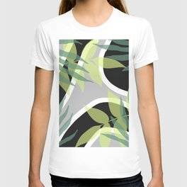 mid Century pattern graphic with Leaves #society6 T-shirt